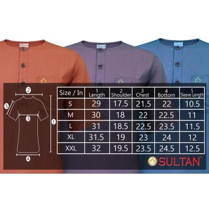 SULTAN KURTA - SHAMS-II - ROUND NECK HALF SLEEVE