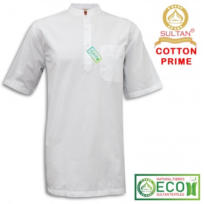 SULTAN KURTA - COTTON PRIME - COLLAR HALF SLEEVES
