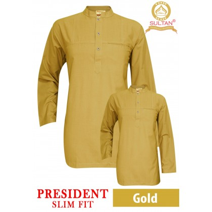SULTAN KURTA - PRESIDENT - SLIM FIT - COLLAR / FULL SLEEVES