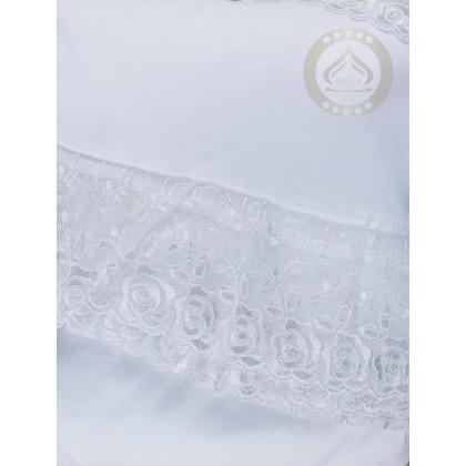 MUSLIMAH GIFT SET (SEJADAH + TELEKUNG + PERFUME + TASBIH) White