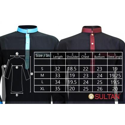 KURTA - ALBAI - COLLAR FULL SLEEVES (BLACK)