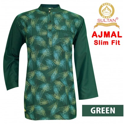 SULTAN KURTA - AJMAL - SLIM FIT - COLLAR FULL SLEEVES
