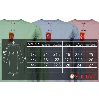 SULTAN KURTA - CASHMERE 4108 - ROUND NECK FULL SLEEVES