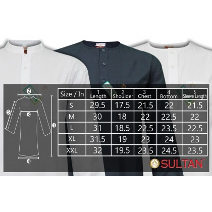 SULTAN KURTA - SUFI - COLLAR FULL SLEEVES