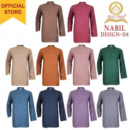 SULTAN KURTA - NABIL - D4 - COLLAR FULL SLEEVES - LELAKI / MEN'S