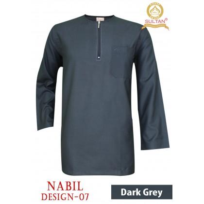 SULTAN KURTA - NABIL - D7 - ROUND NECK FULL SLEEVES - LELAKI / MEN'S