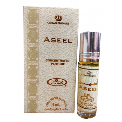 AL Rehab Concentrated perfume oil - Roll on Bottle 6ML - 6pcs - Aseel
