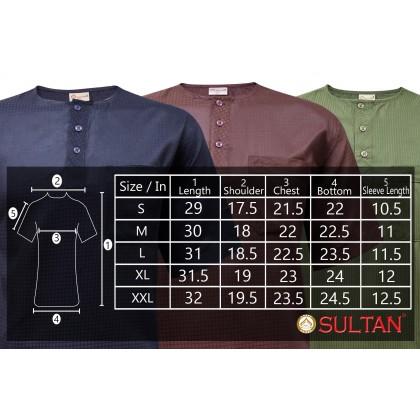 SULTAN KURTA - GALAXY - ROUND NECK SHORT SLEEVES