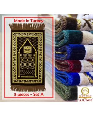 SEJADAH MINI SPEIGEL - MUSLIM PRAYING MATS - MADE IN TURKEY (3 PCS - SET A)