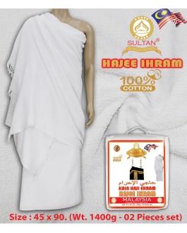 SULTAN EHRAM / IHRAM HAJI HAJJ PILGRIMAGE/ UMRAH TOWEL SET- 100% COTTON
