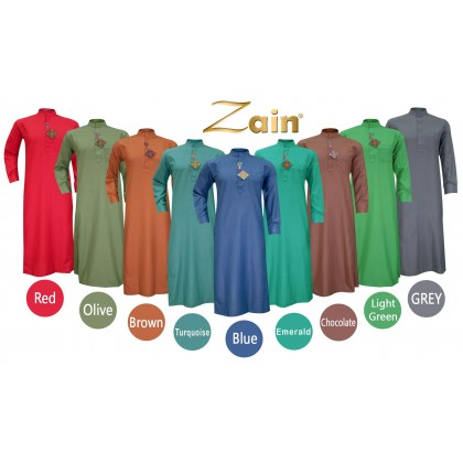 SULTAN - ZAIN JUBAH -  COLLAR & FULL SLEEVES