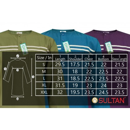 SULTAN KURTA - NABIL - ROUND NECK FULL SLEEVES