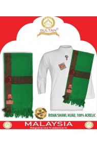 SULTAN - SERBAN - ACRELYC GREEN SHAWL